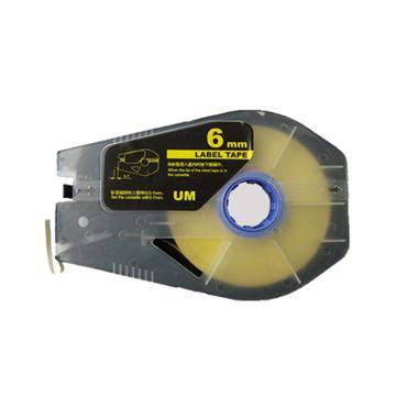 丽标 贴纸,TM-1106Y 黄色6mm长30m,适用丽标 线号机 单位:卷