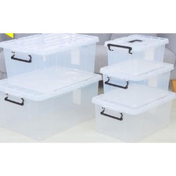 凯旋 透明整理箱带盖,尺寸:395*275*220mm