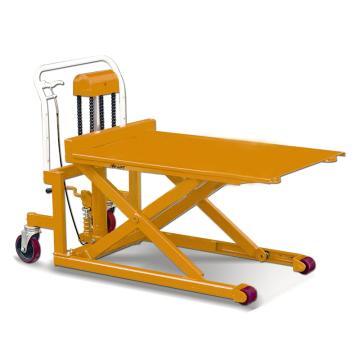 虎力 脚踏剪式升高液压平台车,载重(T):0.5 平台宽度703mm 长度1115mm,PL50L