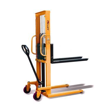 虎力 手动液压堆高车槽钢门架,额定载重:1T 提升高度:1.5M 货叉1150*224-580mm可调,PZ1015