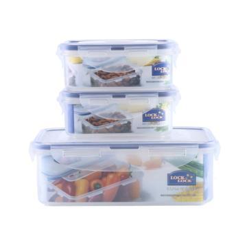 乐扣乐扣LOCK&LOCK 塑料保鲜盒套装密封便当盒3件套