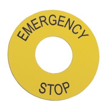 施耐德Schneider XB2 φ60急停标牌(Emergencystop),ZB2BY9330C(10的倍数订货)