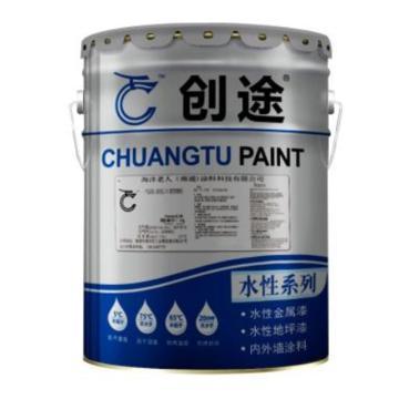 创途 水性丙烯酸外墙涂料,N707,国标B01深灰,20kg/桶