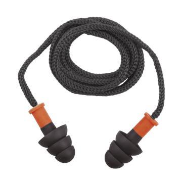 代尔塔DELTAPLUS 可重复使用耳塞,103119,CONICFIR050 圣诞树型TPR材质 带线,1副