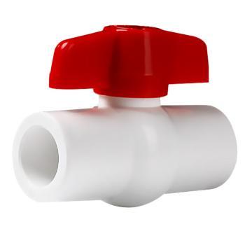 联塑 PVC球阀(PVC-U给水配件),白色,φ20