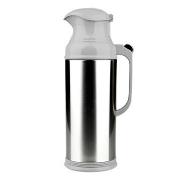 清水 不锈钢热水瓶,玻璃内胆,3262,钢本色 2L