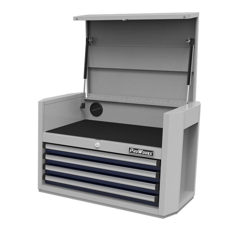 PROWORKS 28寸4斗工具柜,产品尺寸:724×458×473mm,RM92804E,整体静态额定负载225kg