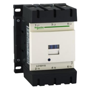 施耐德Schneider TeSys D系列三极接触器,115A,110VDC,LC1D115FD