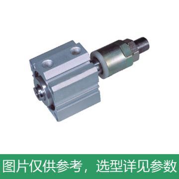 亚德客AirTAC 超薄气缸,附磁,杆端外螺纹,SDA32X80-S-B