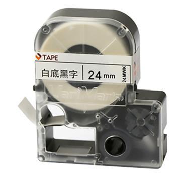 威码 覆膜聚酯标签带,白底黑字 24mm×8.5m 单位:卷