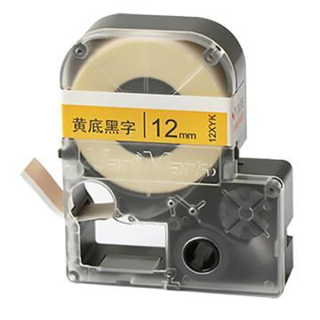 威码 乙烯标签带,12XYK 黄底黑字 12mm×8.5m 单位:卷