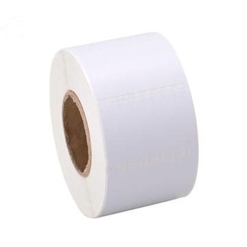 邺码科 铜版纸不干胶,白色,90MM*50MM*4550张,打印方式:热转印;材质:卷芯:75mm