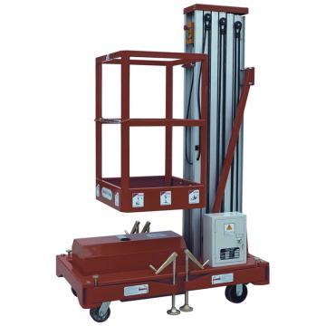 虎力 经济型单桅高空作业平台,载重150kg 平台最高6米 平台尺寸650*600mm,WP1006