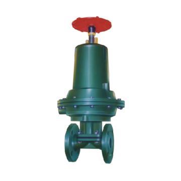 上五 气动常闭式衬胶隔膜阀,G6B41J-10-XF2,DN100,单作用常闭型气缸,带单触点反馈信号装置