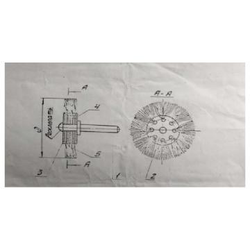 DONGSHUN 钢丝轮(不锈钢丝),65×13带杆平型,杆Φ6mm