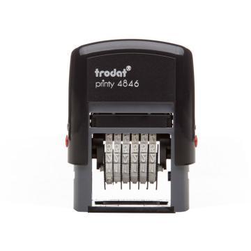 卓达 6位回墨数字印,4846(字高4mm) 单个