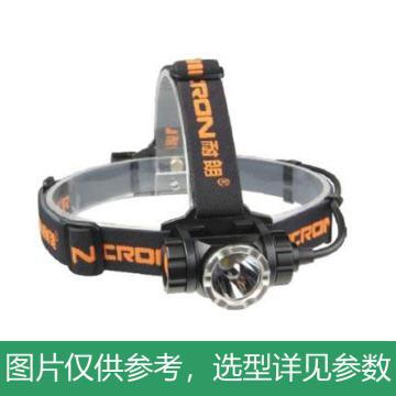 耐朗 H30 远射USB直充铝合金防水LED头灯,9W 含18650电池、USB线 含帽夹,单位:个