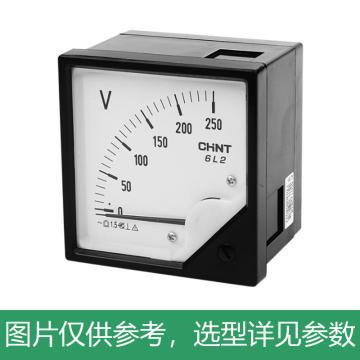 正泰CHINT 6L2-V 指针式电压表,6L2-V 300V 直通