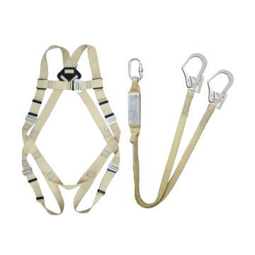 奎楼 全身式阻燃安全带套装,双大钩,1.2米