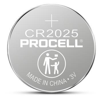 Procell致芯 纽扣锂电池,CR2025,高性能