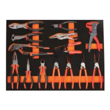 钢盾 14件钳子类工具托组套,S025049