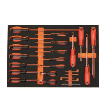 钢盾 22件螺丝批工具托组套,S025048