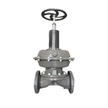 上五 气动常开式衬胶隔膜阀,EG6K41J-10-XF1,DN125,单作用常开型气缸,带单触点反馈信号装置