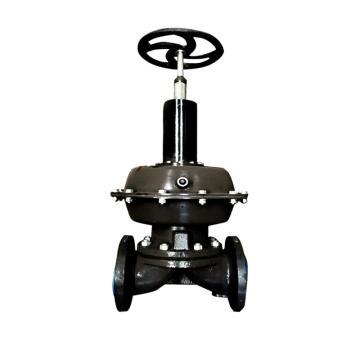 上五 气动常开式衬胶隔膜阀,G6K41J-10-XF2,DN32,单作用常开型气缸,带双触点反馈信号装置