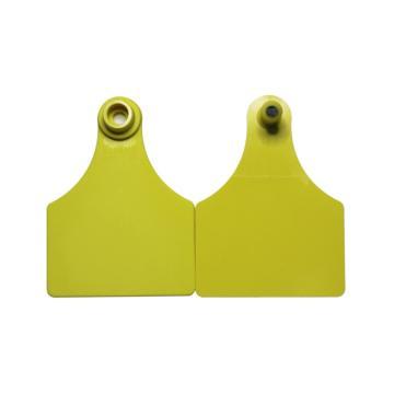 蓝创 中号分体式特殊牛耳标 23#+5#,免费定制,可选颜色:黄