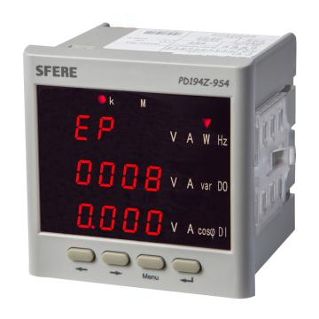斯菲尔/SFERE 三相四线多功能电力仪表,PD194Z-9S4 输入AC380V AC5A 开孔尺寸91*91