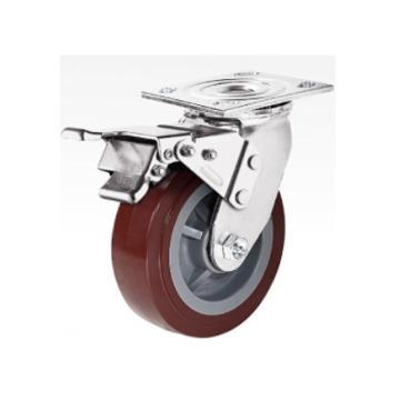 陕西环岛 重型304不锈钢高科技聚氨酯轮,19UPD150SA,个
