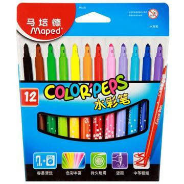 马培德 盒装水彩笔,12色 845020CH 单位:盒