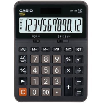 卡西欧 常规计算器,DX-12B 黑色 单位:台