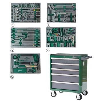 世达SATA 176件生产维修综合组套(含5抽屉工具车),09951