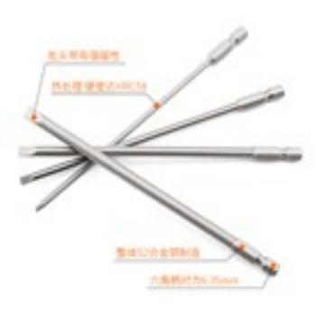 劲凯 加长螺丝刀批头,S-2,6*100MM(10支/包)