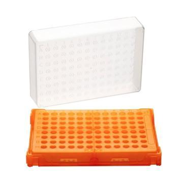 亚速旺PCR支架T328-96 橙色 1盒(主体·盖子20个)