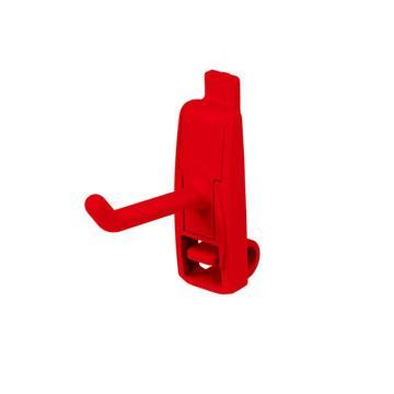 天钢 方孔挂板塑胶挂钩,W17XD55XH52mmKP-6101,20个装