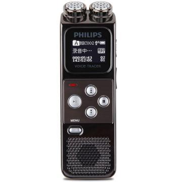 飞利浦录音笔,VTR6900 8G 专业高清降噪 会议采访双麦克风 高采样率高音质PCM线性一键紧急 锖色