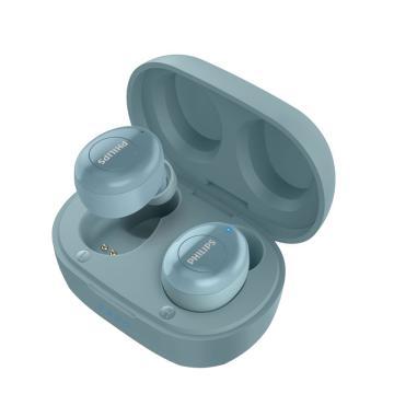 飞利浦真无线蓝牙耳机,UT102 蓝色 入耳式音乐耳机 饱满音质 持久续航多功能按键 苹果安卓手机通用