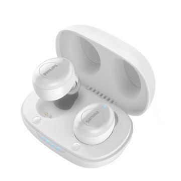 飞利浦真无线蓝牙耳机,UT102 白色 入耳式音乐耳机 饱满音质 持久续航多功能按键 苹果安卓手机通用