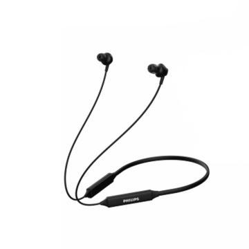 飞利浦蓝牙耳机,TAN3235BK 运动颈挂式蓝牙耳机 脖式无线运动跑步音乐耳塞苹果华为安卓通用 黑色