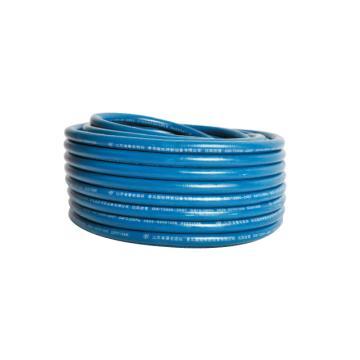 青岛国胜,国标光面三胶两线蓝色氧气管,管径8mm,耐压3.5Mpa,30米/卷