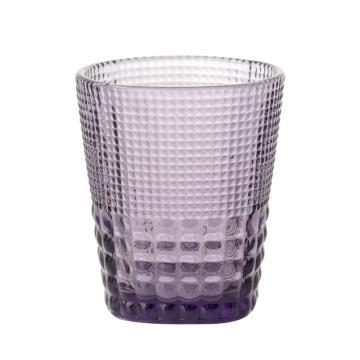 唐年 漱口杯,HLY0938C 敞口机制玻璃钻石纹紫色 300ml 单位:个