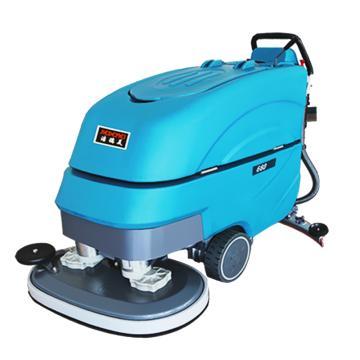 洁德美手推电瓶式洗地机(免维护、双刷),660B