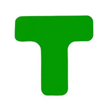 安赛瑞 重载型5S管理地贴-T型,高强度PVC,厚2mm,绿色,50×150×150mm,15824,10个/包