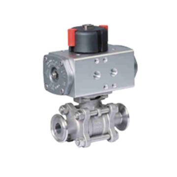 LAPAR 气动双作用开关型卫生级球阀,LPC11-1D3A7BPB4-40-1.6,配套电磁换向阀,电压DC24V,不防爆