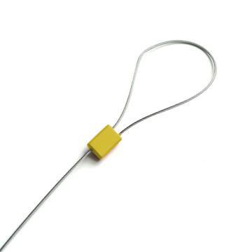 安赛瑞 抽紧式方头钢丝铅封(100根装)黄色,Φ1.8×400mm(包),23476