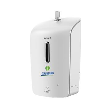 瑞沃 感应皂液器,PL-151055 1000ML 壁挂式可免打孔 滴液款 白色 单位:个