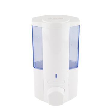 瑞沃 手动皂液器,V-5101 350ML 壁挂式可免打孔 白色 单位:个
