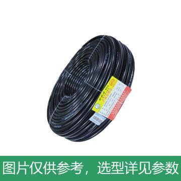起帆 聚氯乙烯护套软线,RVV-4*1.5mm²黑色,100米/卷